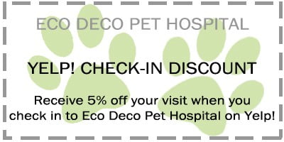Eco Deco coupon. Receive 5% off your visit when you check in to Eco Deco Pet Hospital on Yelp